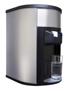 A sleek and modern countertop point of use water cooler